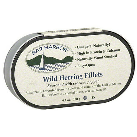 - Bar Harbor Cracked Pepper Herring, 6.7 oz (Pack of 12)