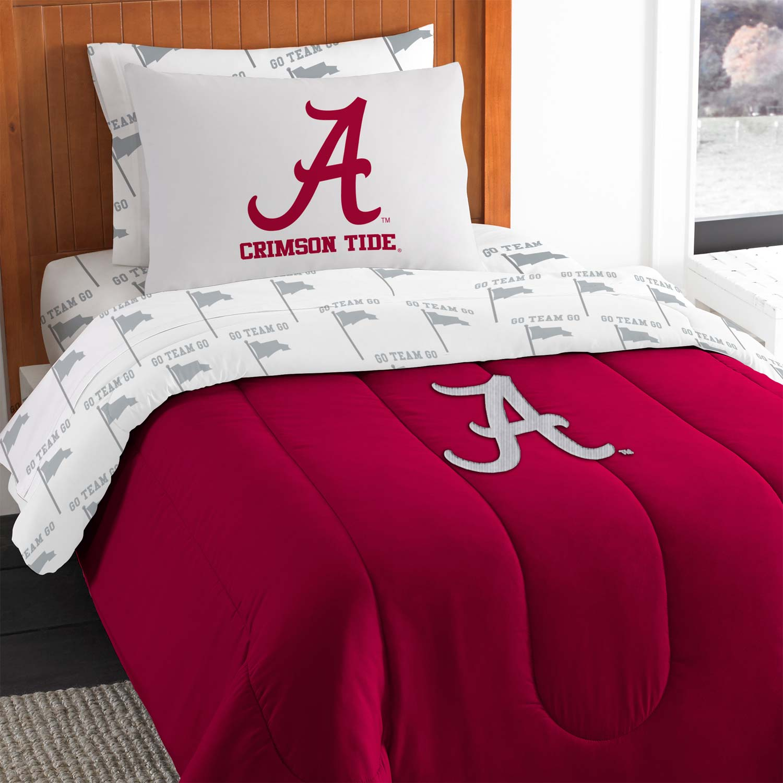 5pc NCAA Alabama Crimson Tide Twin Bedding Set