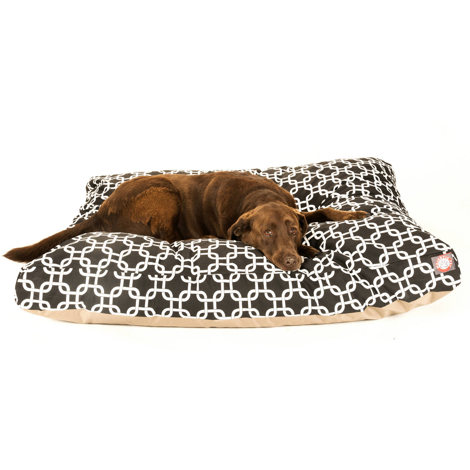 Majestic Pet Products Links Rectangle Pet Bed, Black