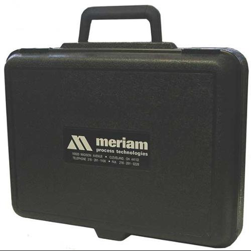 MERIAM 9A000069 Hard Carrying Case, 3 In D, 12 In H, Black