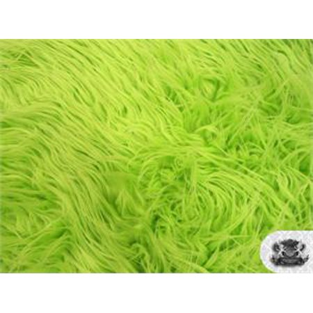 - Faux Fake Fur Mongolian Fabric Sold by the Yard (LIME)