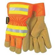 MCR SAFETY 19251XL Leather Palm Gloves,Pigskin,XL,PR