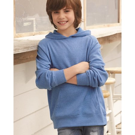 Independent Trading Co. Youth Special Blend Raglan Hooded Pullover