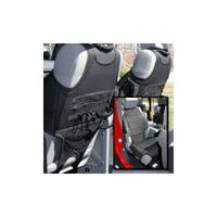 Rugged Ridge 13235.20 Seat Cover For Jeep Wrangler (JK), Black Solid Design