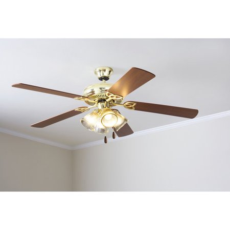 Mainstays 52 ceiling fan with light kit bright brass 17809 mainstays 52 ceiling fan with light kit bright brass 17809 mozeypictures Choice Image