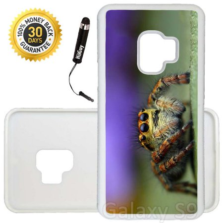 Custom Galaxy S9 Case (Very Scary Baby Spider) Edge-to-Edge Rubber White Cover Ultra Slim   Lightweight   Includes Stylus Pen by Innosub - Scary Baby