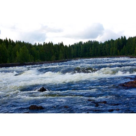 LAMINATED POSTER Nature River Wave Rock Cascade Water Courses Poster Print 24 x (Course Wave)