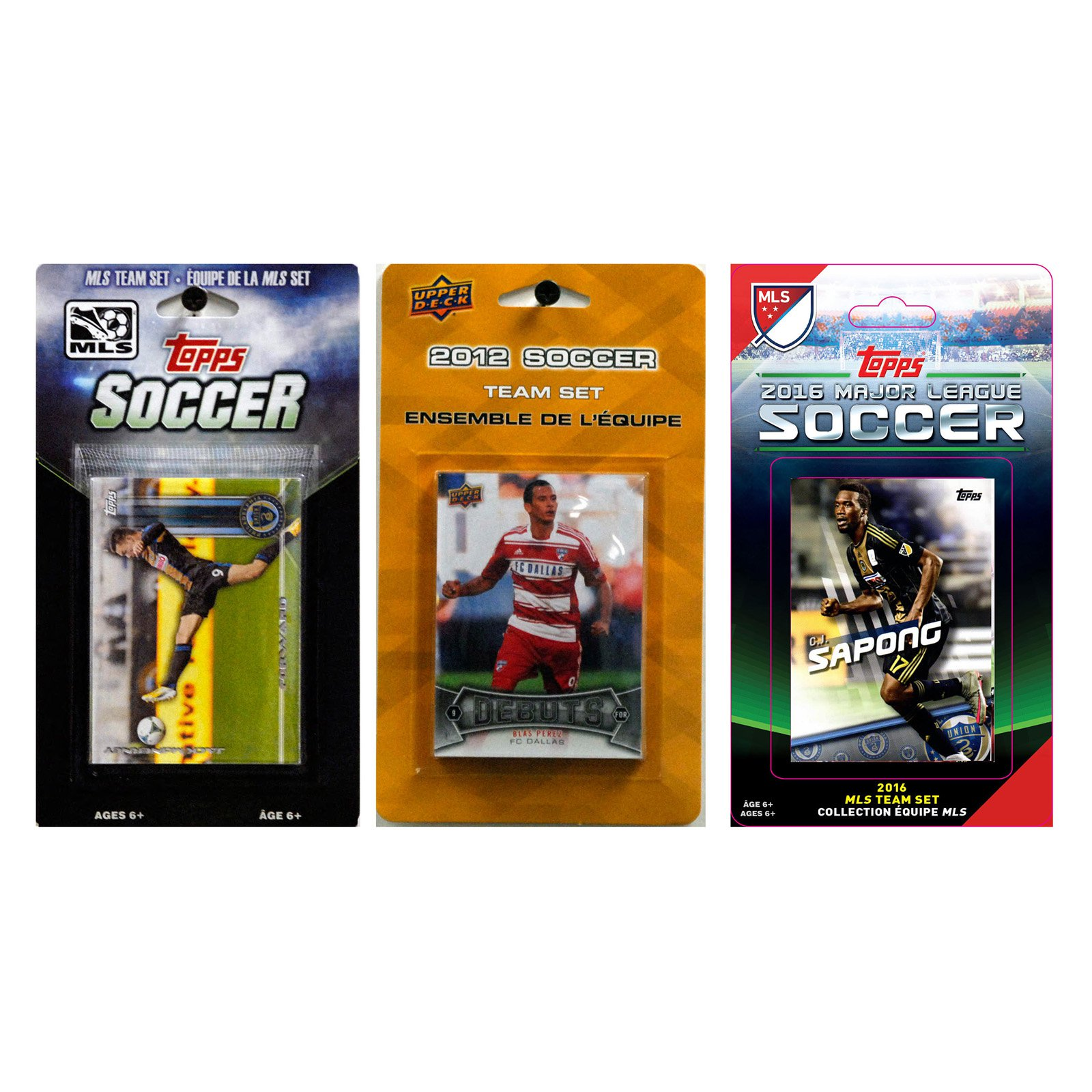 C&I Collectables MLS Philadelphia Union 3 Different Licensed Trading Card Team Sets