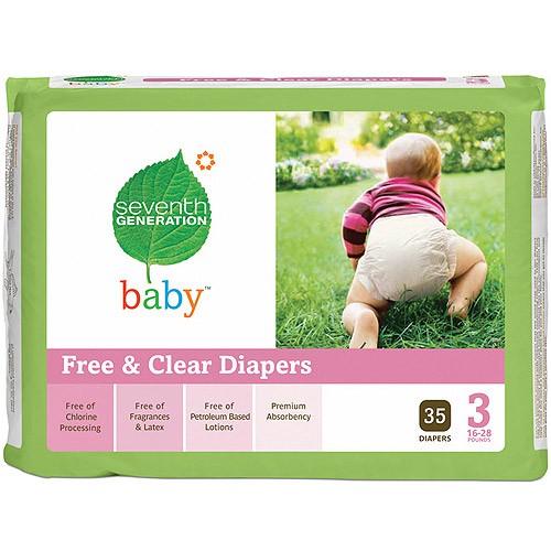 Seventh Generation Chlorine Free Diapers Stage 3 -- 35 Diapers