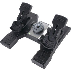 Flight Sim Yoke Pedals - Saitek Pro Flight Rudder Pedals for PC - Cable - USB - PC