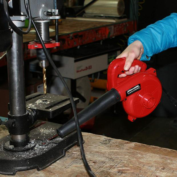 GardenHOME Compact Red 600 Watt Garage/Shop/ Blower/Patio Blower (16,500 Max RPM, 6 Variable Speed Control)