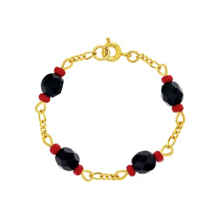 18k Gold Plated Baby Toddlers Simulated Azabache Bracelet Evil Eye Protection - Evil Eye Protection Turtle