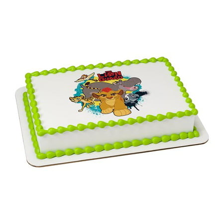 Lion Guard Edible Icing Image Cake/Cupcake Party Topper for 6 inch Round Cake - Party City Lion