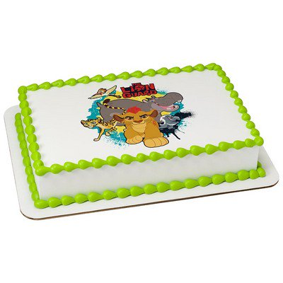 Lion Guard Edible Icing Imagecake Cupcake Party Topper For