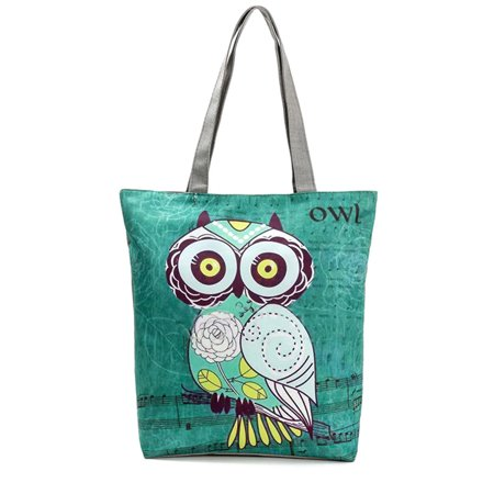 5c7af9fc0b3dd Fancyleo Cute Owl Floral Printed Canvas Bags Tote Bag Women Female Fashion  Casual Convenient Large Capacity Bags Daily Use Shopping Portable Handbags  ...