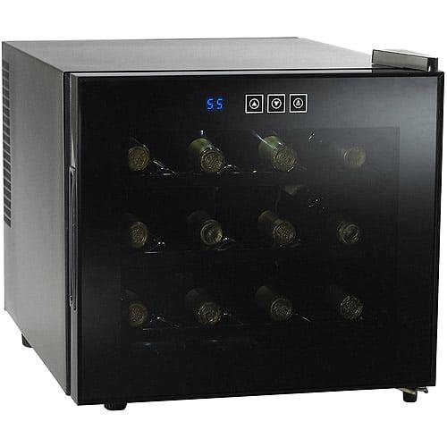 Wine Enthusiast Silent 12-Bottle Touchscreen Wine Refrigerator
