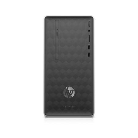 HP Pavilion Desktop Tower, Intel Core i3-8100, Intel UHD Graphics 630, 1TB HDD + 16GB Intel Optane memory, 4GB SDRAM, DVD, Mouse and Keyboard, Ash Silver, (168 Pin Sdram Pc133 Desktop)