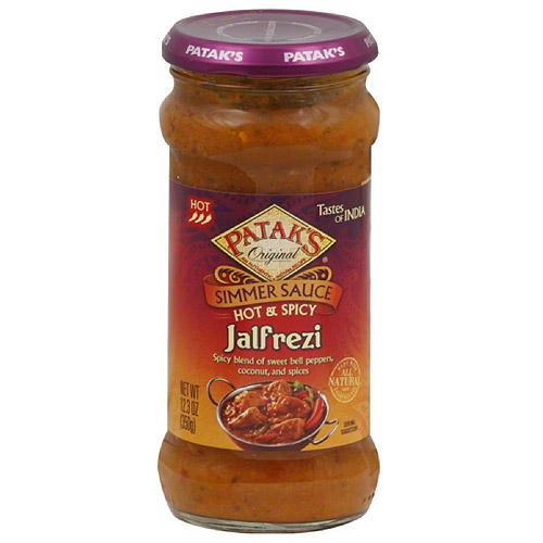 Patak's Hot & Spicy Jalfrezi Simmer Sauce, 12.3 oz, (Pack of 6)