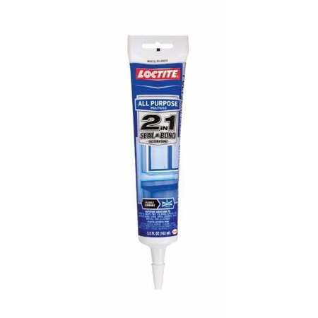 - Loctite 1723254 2 Pack 5.5Ounce Tube 2 in 1 Seal & Bond All Purpose Adhesive Caulk, Clear