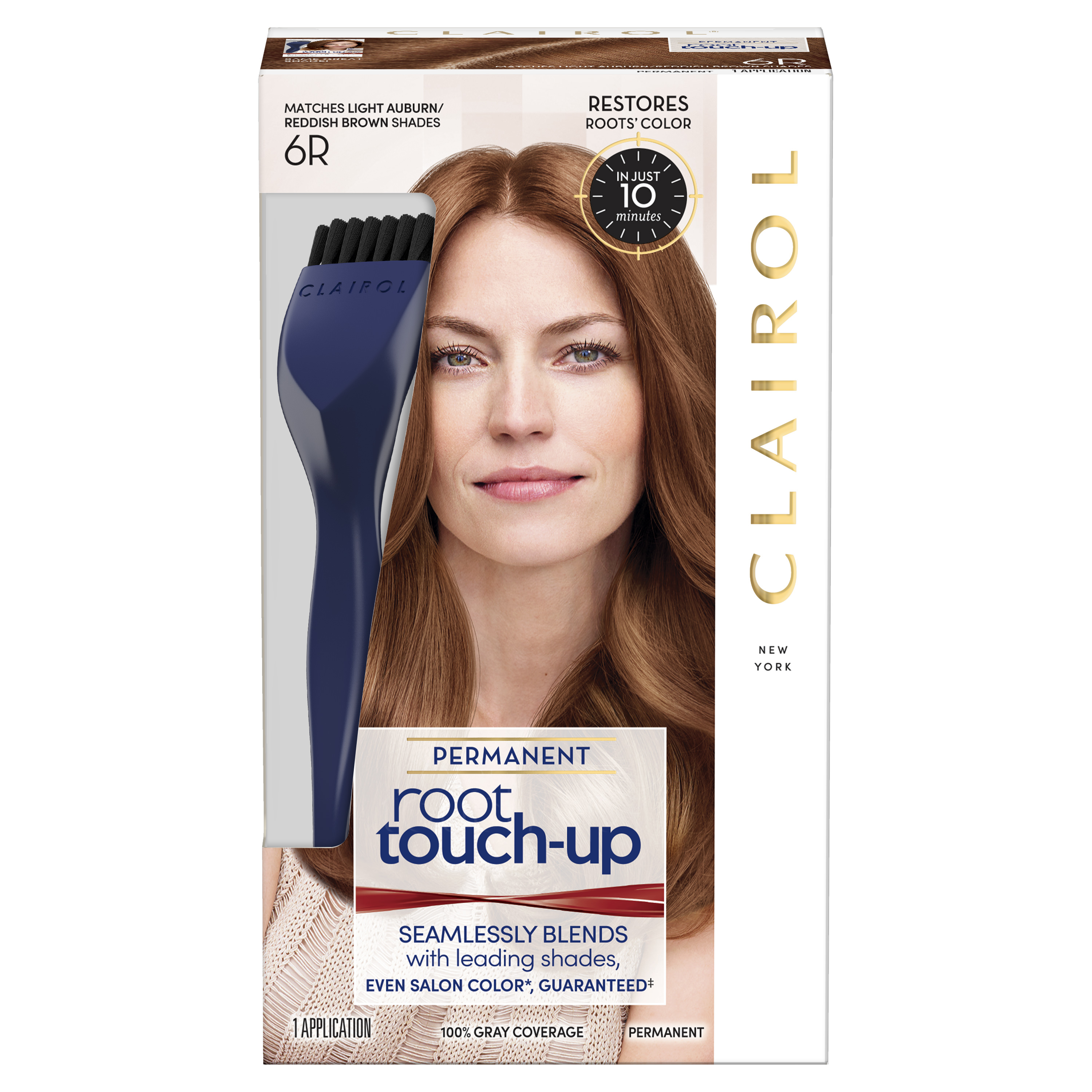 Clairol Root Touch-Up Permanent Hair Color, 6R Light Auburn