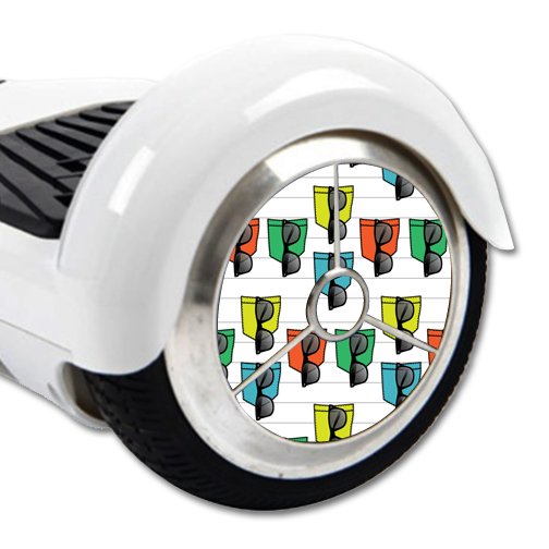 MightySkins Protective Vinyl Skin Decal for Hover Balance Board Scooter Wheels mini board unicycle bluetooth wrap cover sticker Island Designer