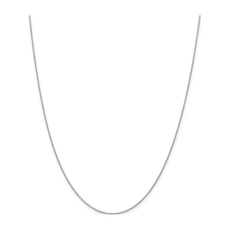 925 Sterling Silver 1mm Rhodium Curb Chain - image 5 de 5