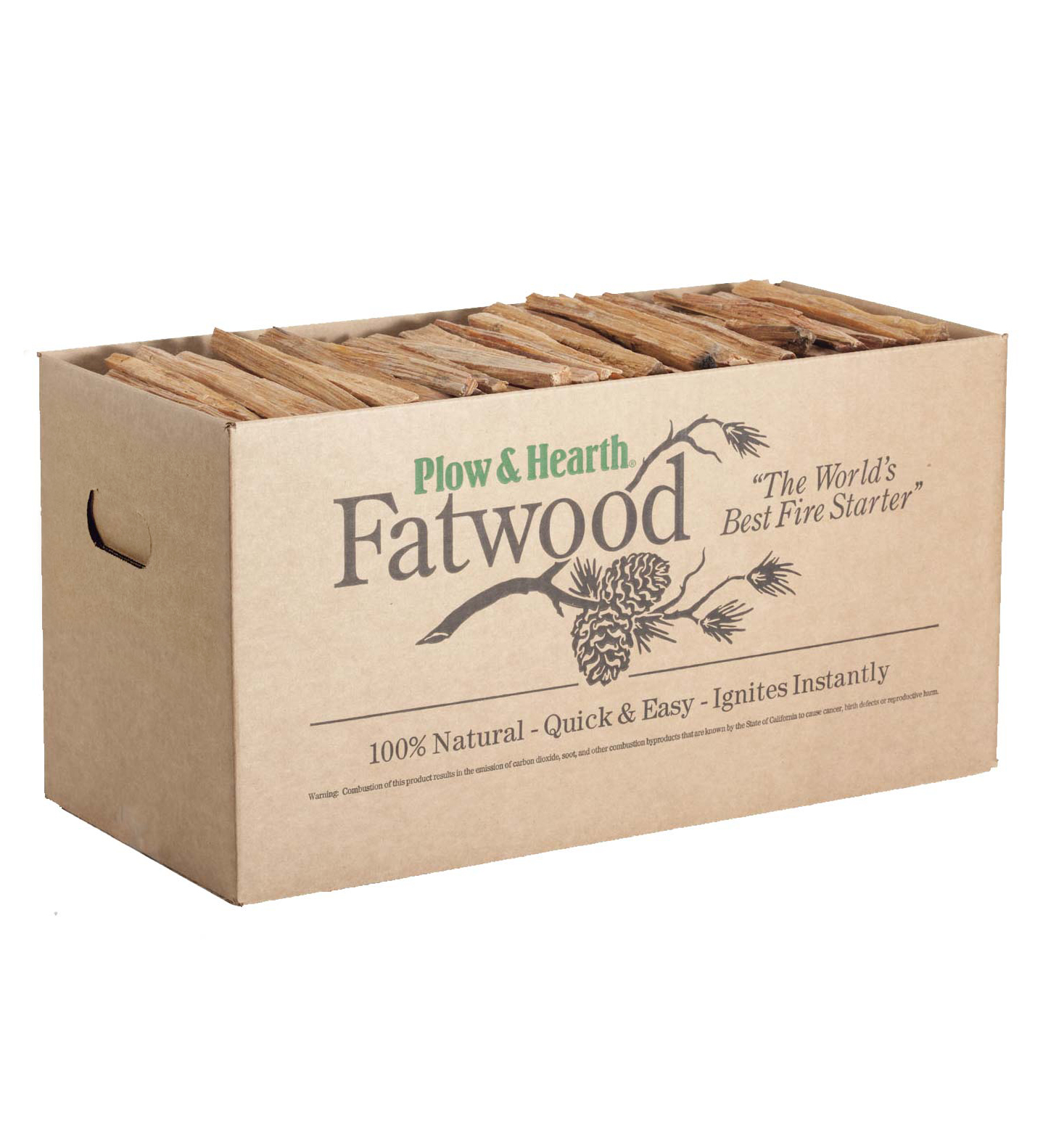 Plow & Hearth Easy-Start Fatwood Fire Starter, 35 lb. Box...