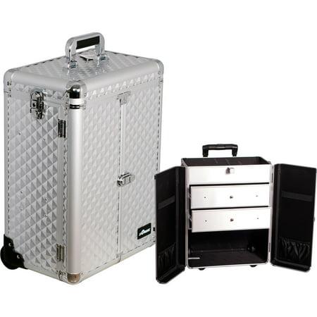 Sunrise E6306DMSL Silver Diamond Large Drawer Textured Case