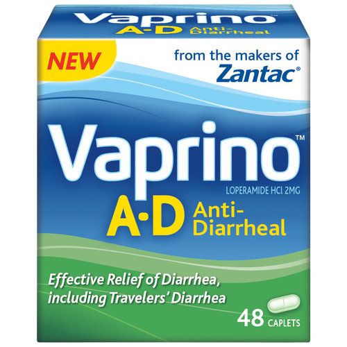 Vaprino A-D Anti-Diarrheal Tablets, 48 count