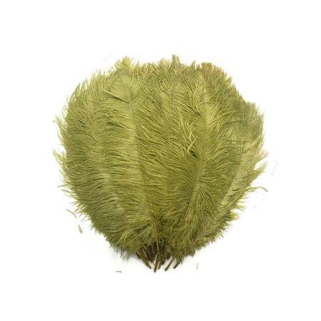 1 2 Lb   14 17  Olive Ostrich Large Drab Wholesale Feathers  Bulk  Swa