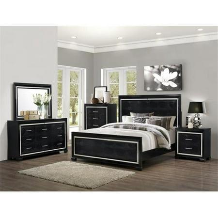 Myco Furniture Lu730 M Black Luca Mirror Walmart Com