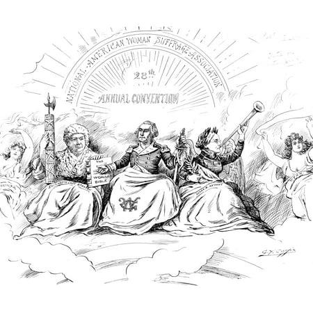 WomenS Rights Cartoon NThe Apotheosis Of Liberty American