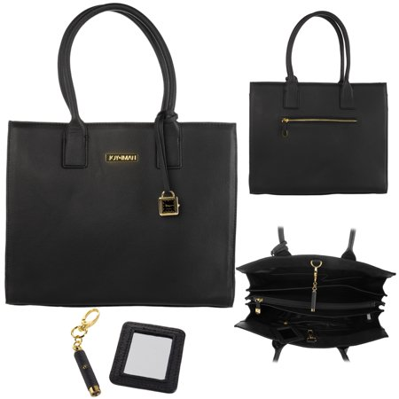 2e83420da3d4 Joy & Iman - Joy & Iman Genuine Leather Hollywood Glamour Handbag Satchel  Large Tote Purse - Walmart.com