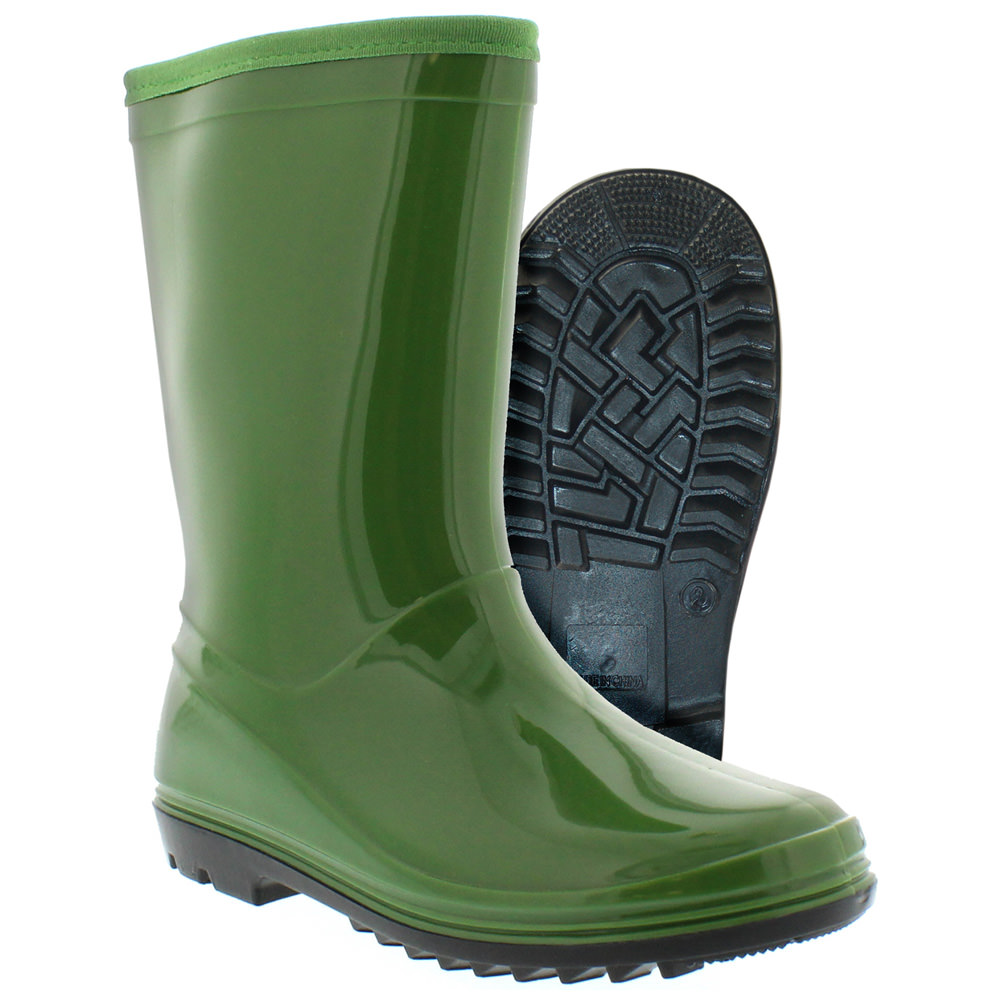 Itasca PUDDLE HOPPER Toddler Youth Green Waterproof Rain Boots by