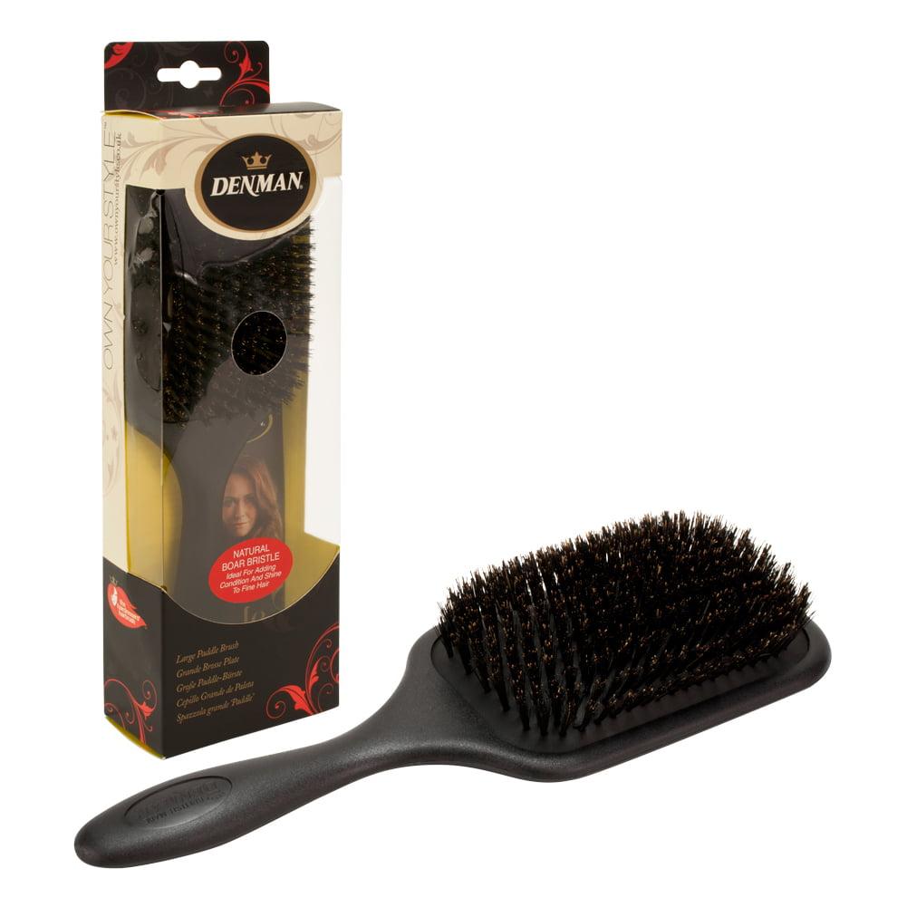 Denman Large Paddle Hair Brush Boar Bristle Black