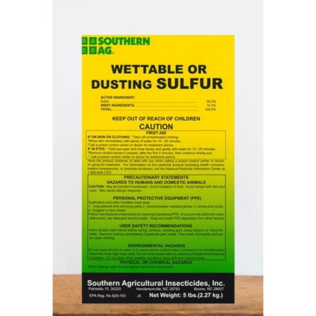 Southern Ag Wettable or Dusting Sulfur Organic, 5