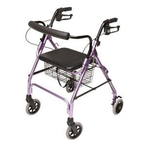 "Lumex Walkabout Lite Four-Wheel Rollator, Lavender, 6"" Wheel"