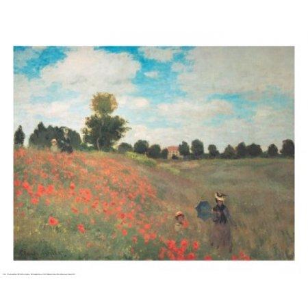 Les Coquelicots Poster Print by Claude Monet (30 x 24) (Le Monet Halloween)