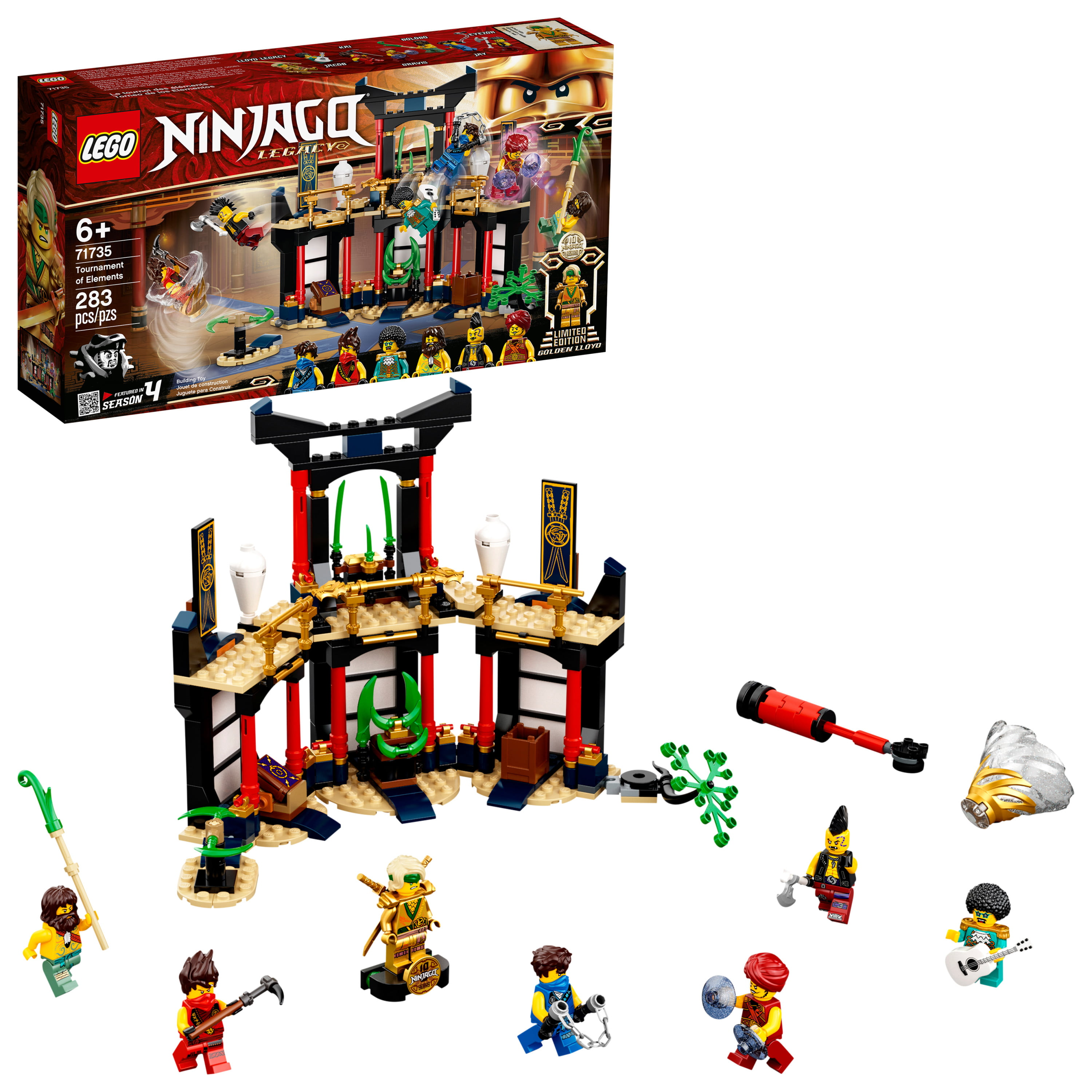LEGO NINJAGO Legacy Tournament of Elements 71735 Building Toy (283 Pieces)