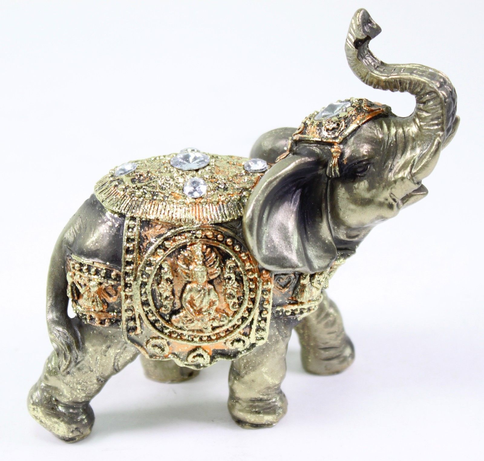 Feng Shui Bronze Elephant Trunk Statue Wealth Lucky Figurine Gift
