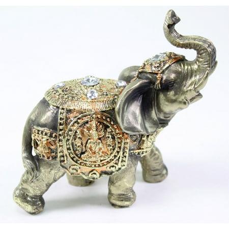 Child Bronze Figurine - Feng Shui Bronze Elephant Trunk Statue Wealth Lucky Figurine Gift Home Decor
