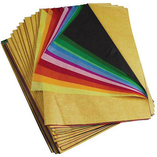 "Spectra Deluxe Bleeding Art Tissue, 20"" x 30"", 12 Color Assortment, Pack of 480 Sheets"