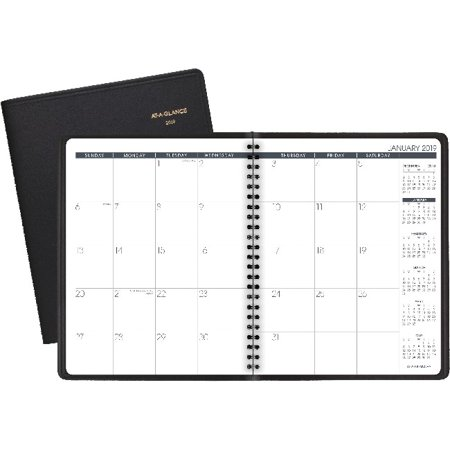 At-A-Glance Monthly Planner - Julian - Monthly - 1 Year - January 2019 till December 2019 - 2 Month Double Page Layout - 6 7/8