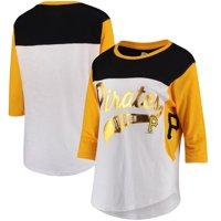 Pittsburgh Pirates Hands High Women's Season's Pass 3/4 Sleeve T-Shirt - White