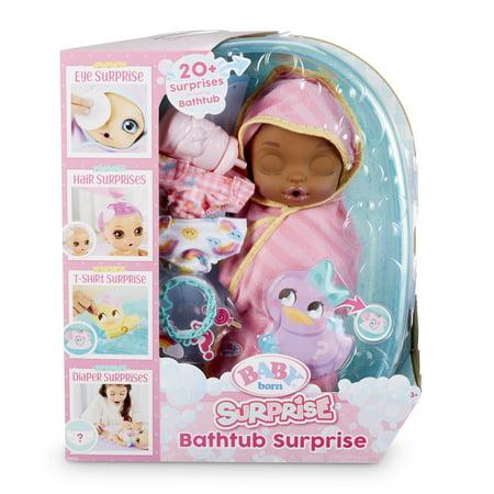 Baby Born Surprise Bathtub Surprise Pink Swaddle Princess w/ 20+ Surprises