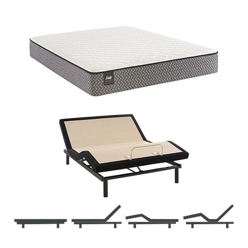 Bernstein Twin Size Plush Tight Top Mattress and Adjustable Base Sealy Response Essentials Mattress by Sealy