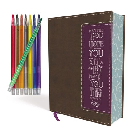 Niv, Beautiful Word Coloring Bible and 8-Pencil Gift Set, Leathersoft, Brown: Hundreds of Verses to Color - Hunting Bible Verses
