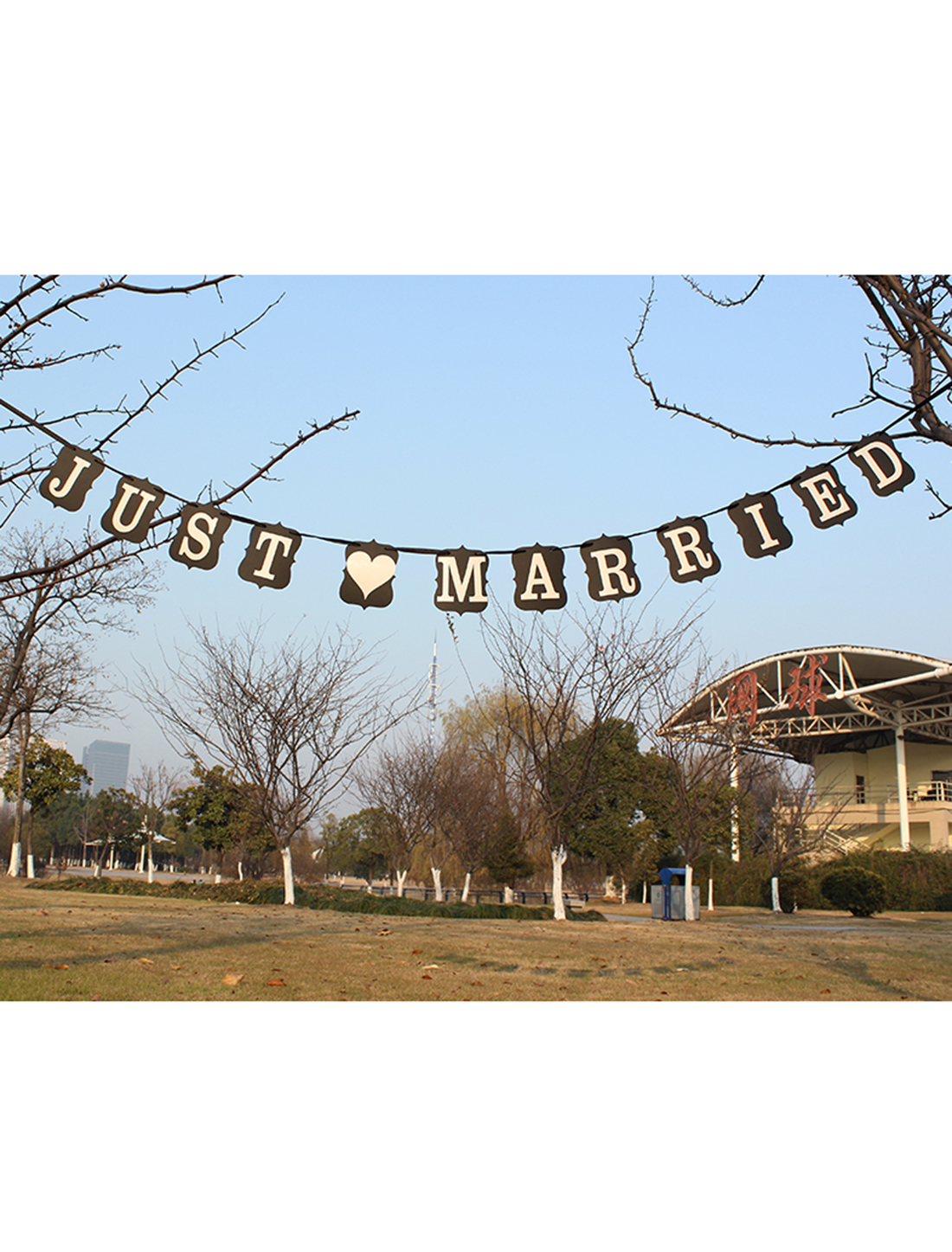 Wedding Party Decor Paper LOVE IS SWEET Letter Banner Bunting Photo Card Prop