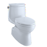 TOTO? Carlyle? II 1G? One-Piece Elongated 1.0 GPF Universal Height Skirted Toilet with CeFiONtect?, Cotton White - MS614114CUFG#01