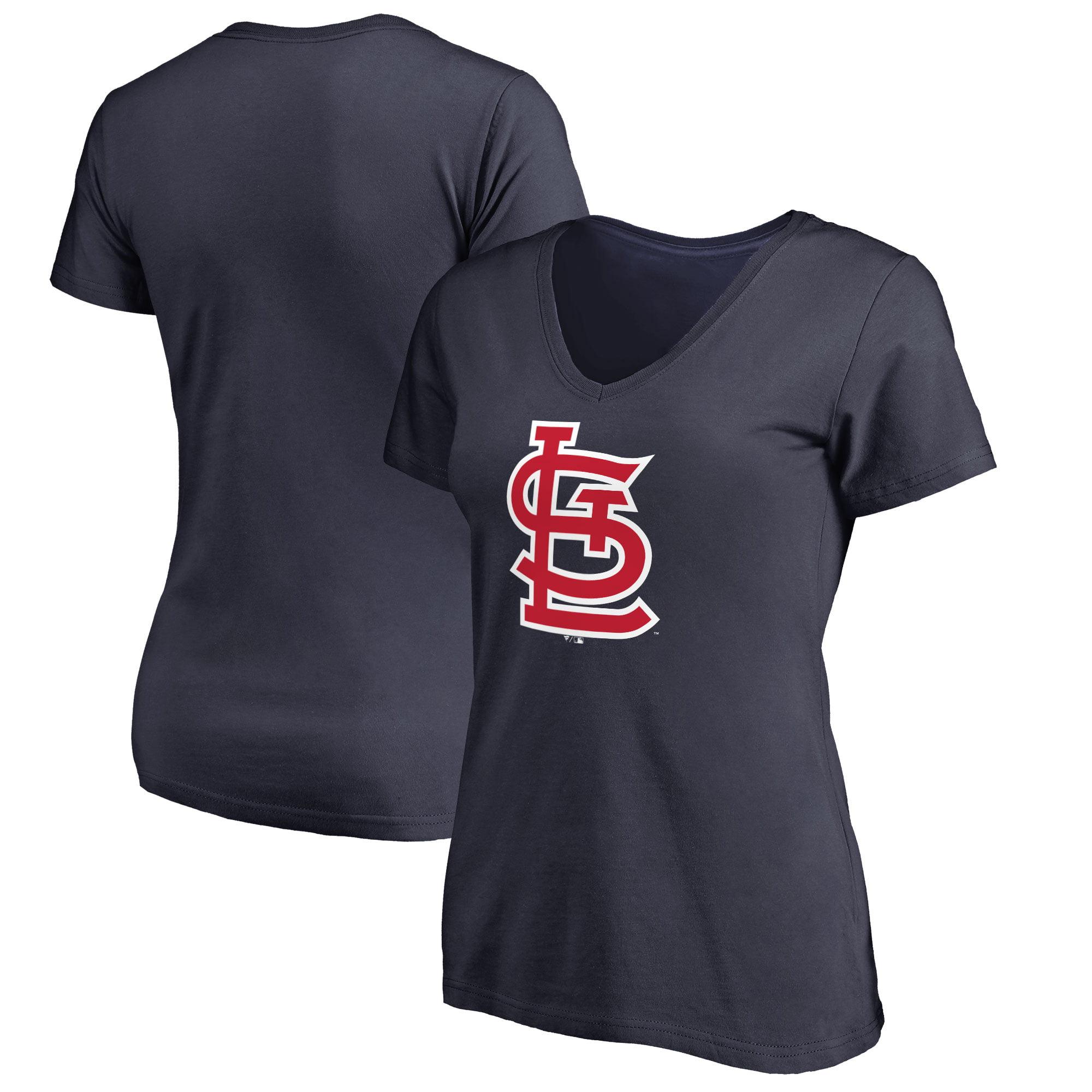 St. Louis Cardinals Women's Plus Sizes Primary Team Logo T-Shirt - Navy